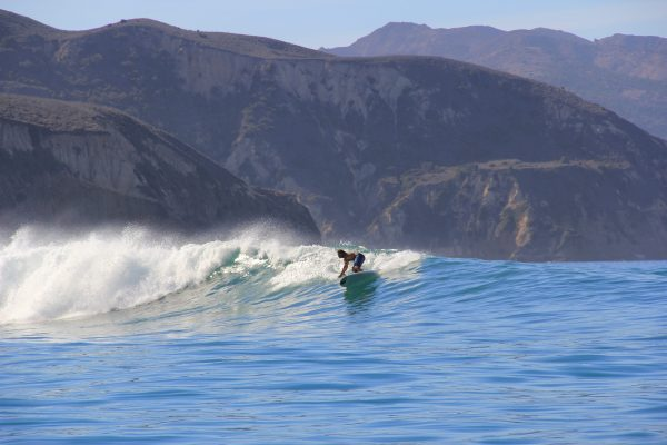 Longboard surfing santa barbara