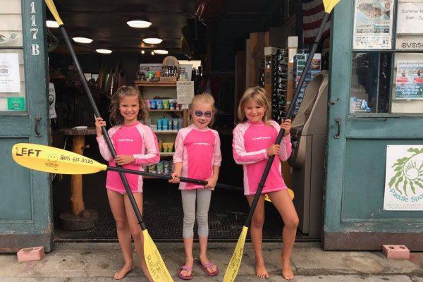 kids getting ready for kayaking